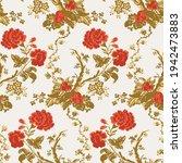 vector floral modern pattern ... | Shutterstock .eps vector #1942473883