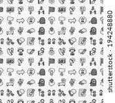 seamless doodle communication... | Shutterstock .eps vector #194248880