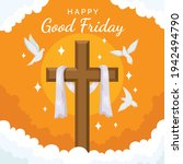 good friday banner and poster....   Shutterstock .eps vector #1942494790