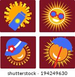 set of 4 icons of sun protection | Shutterstock .eps vector #194249630