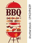bbq party invitation | Shutterstock .eps vector #194249639