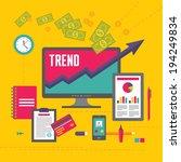 business trend illustration in... | Shutterstock .eps vector #194249834