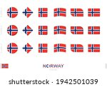 norway flag set  simple flags...   Shutterstock .eps vector #1942501039