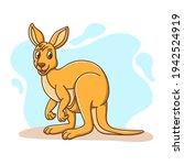 Kangaroo Icon Kids Sticker...