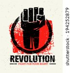 revolution protest fist... | Shutterstock .eps vector #194252879