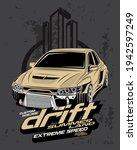 drift summer land  custom drift ...   Shutterstock .eps vector #1942597249