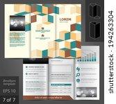 vector brochure template design ... | Shutterstock .eps vector #194263304