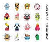 monsters   vector set | Shutterstock .eps vector #194265890