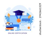 online certification  exam or... | Shutterstock .eps vector #1942661329