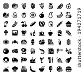 set of icons with food and... | Shutterstock .eps vector #194271719