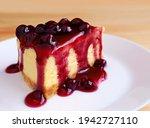 Slice Of Baked Cheesecake...