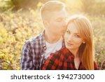 beautiful couple hugs each... | Shutterstock . vector #194273000