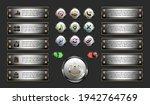 metallic set button  round...