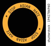 stop asian hate black and... | Shutterstock .eps vector #1942786960