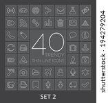 40 trendy thin line icons....
