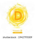 vitamin d icon. shining yellow... | Shutterstock .eps vector #1942795309