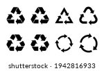 recycle icon set. recycling...   Shutterstock .eps vector #1942816933