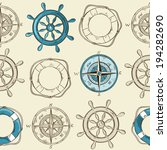 nautical striped seamless... | Shutterstock .eps vector #194282690