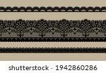 Black Trim Lace Ribbon On Brown ...
