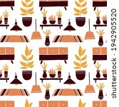 seamless pattern of living room ... | Shutterstock .eps vector #1942905520