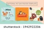 set of editable national pet... | Shutterstock .eps vector #1942922206