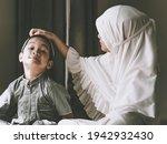 closed up shot of asian muslim...   Shutterstock . vector #1942932430