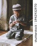 silhouette image of muslim pre...   Shutterstock . vector #1942932970