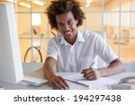 casual young businessman... | Shutterstock . vector #194297438