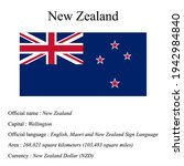 new zealand national flag ...   Shutterstock .eps vector #1942984840
