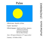 palau national flag  country's...   Shutterstock .eps vector #1942984843
