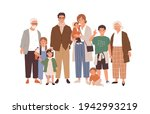 portrait of big happy family... | Shutterstock .eps vector #1942993219