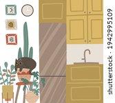 small kitchen stylish cozy...   Shutterstock .eps vector #1942995109