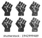 raised fist icon symbol shape.... | Shutterstock .eps vector #1942999489