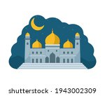 flat style mosque isolated on... | Shutterstock .eps vector #1943002309