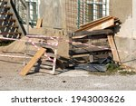 Sand Pile And Wooden Pallets...