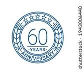 60 years anniversary logo... | Shutterstock .eps vector #1943006440