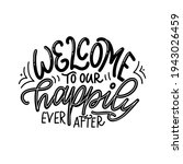 hand drawn lettering typography ... | Shutterstock .eps vector #1943026459