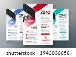 corporate flyer design template ... | Shutterstock .eps vector #1943036656