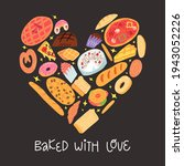 bakery funny banner. various... | Shutterstock .eps vector #1943052226