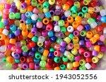 A Shot Of Multi Colored Plastic ...