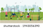 mature family active concept of ... | Shutterstock .eps vector #1943056390
