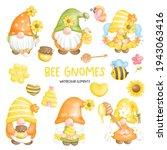 digital paint watercolor bee... | Shutterstock .eps vector #1943063416