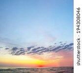 sunset in baltic sea   Shutterstock . vector #194308046