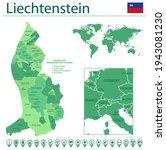 detailed map of liechtenstein...   Shutterstock .eps vector #1943081230