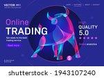 online trading business service ... | Shutterstock .eps vector #1943107240