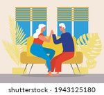 old couple at home  romance... | Shutterstock .eps vector #1943125180