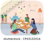 family mother  daughter ...   Shutterstock .eps vector #1943132416