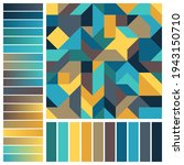 geometric seamless pattern with ... | Shutterstock .eps vector #1943150710