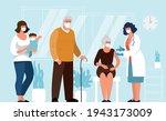 coronavirus vaccination for... | Shutterstock .eps vector #1943173009