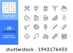 line icons about grill and...   Shutterstock .eps vector #1943176453